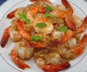 Bangkok garlic shrimps