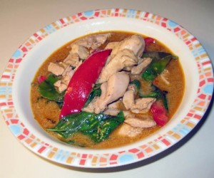 Panag curry with chicken