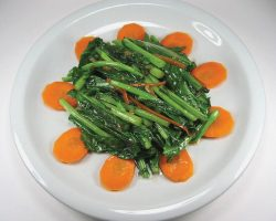Chinese kale with oyster sauce