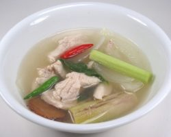Clear broth chicken lemon grass soup