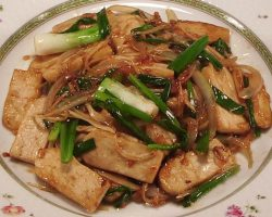 Tofu with fresh young ginger