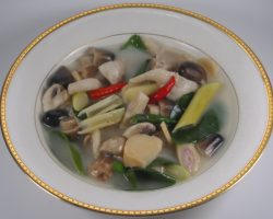 Mixed mushrooms soup
