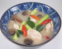 Chicken with spicy tamarind broth
