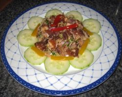 Fried fish salad