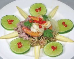 Lemon grass with pork and shrimp salad