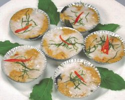 Steamed fish curry
