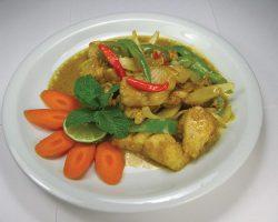 Fish with kari curry powder