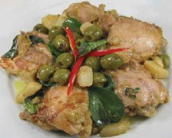 Dried green curry chicken