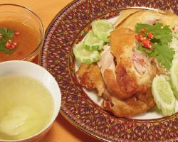 Steamed chicken and buttery rice