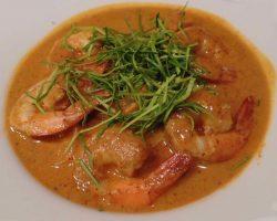 Panang curry shrimps