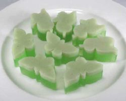 Coconut milk jelly